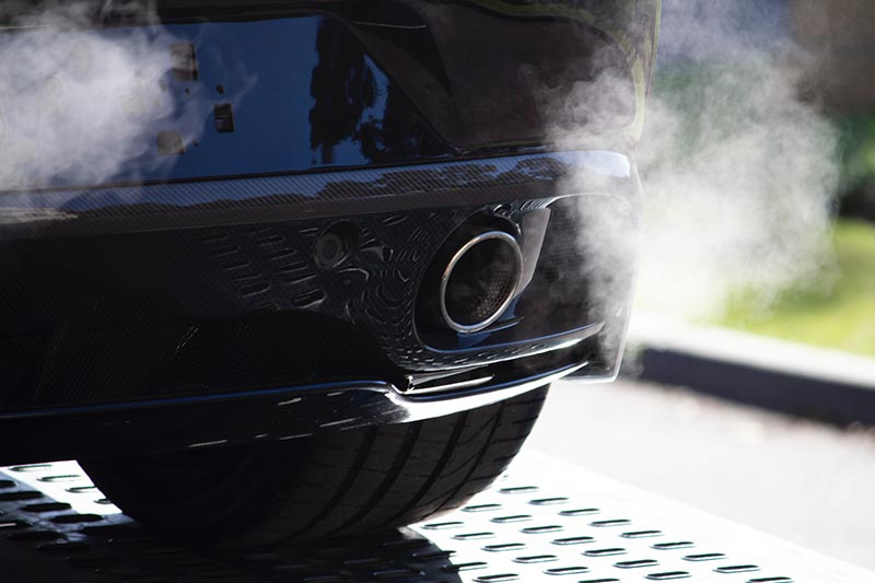 Car exhaust fumes emissions pollution