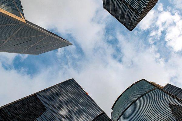 City skyscrapers