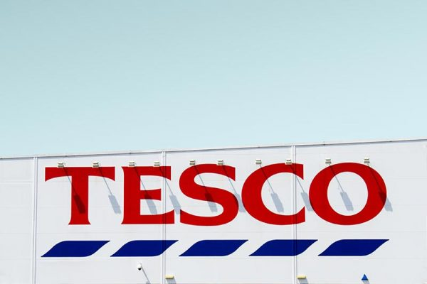 Tesco supermarket sign