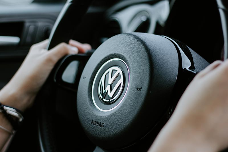 Volkswagen (VW) car steering wheel