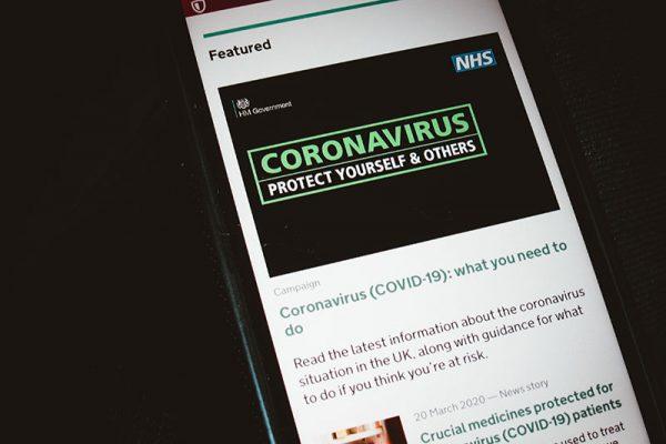 Coronavirus mobile web page