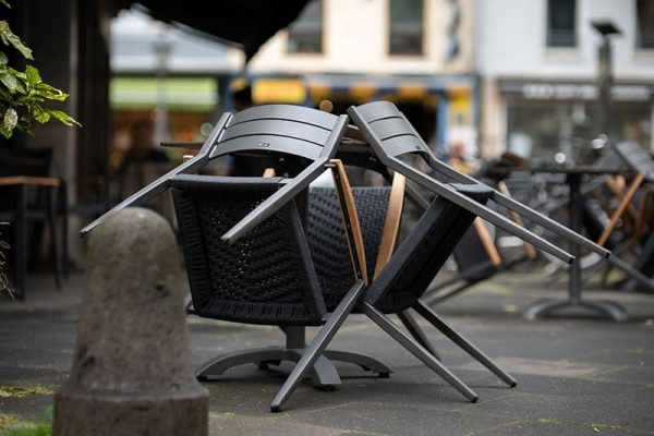 Upturned chairs
